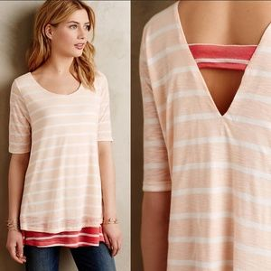 Anthropologie Puella Mixed Striped Tunic